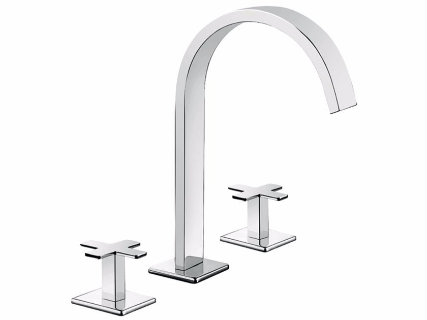 Rubinetto per lavabo a 3 fori da piano PLAYONE PLUS 37 - 3712515 by Fir Italia