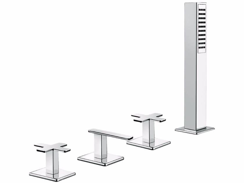 4 hole bathtub set with hand shower PLAYONE PLUS 37 - 3747452 - Fir Italia