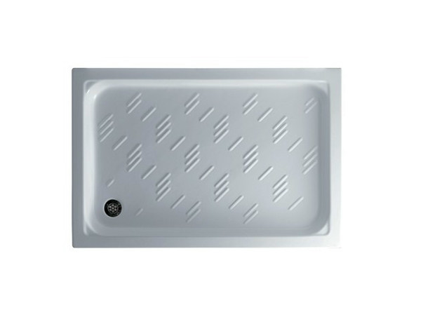Anti-slip rectangular shower tray PLAZA 120 X 80 by GALASSIA