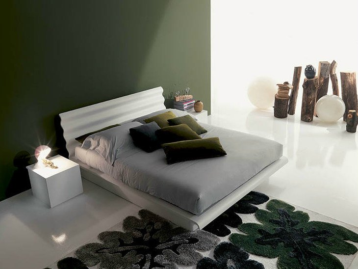 Lacquered storage bed PLISSE' - Fimar