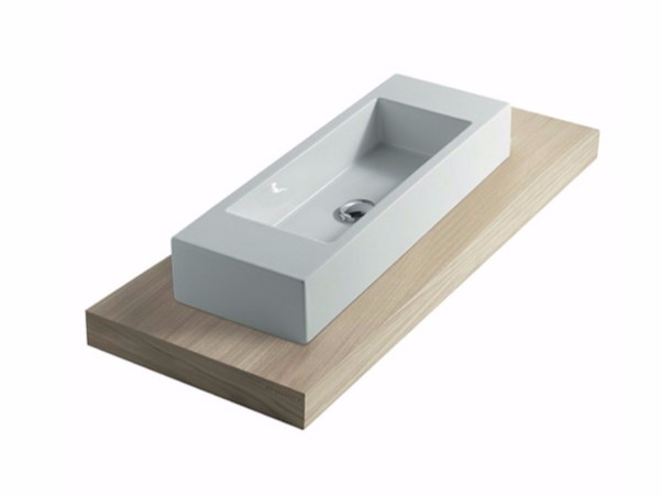 Wooden washbasin countertop PLUS DESIGN 128 | Washbasin countertop - GALASSIA