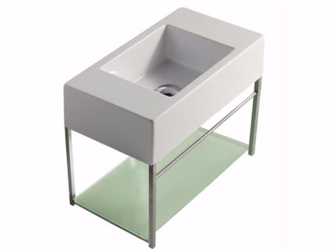 Wall-mounted chromed brass vanity unit PLUS DESIGN 54 X 29 | Vanity unit - GALASSIA