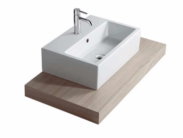 Wooden washbasin countertop PLUS DESIGN 98 | Washbasin countertop - GALASSIA
