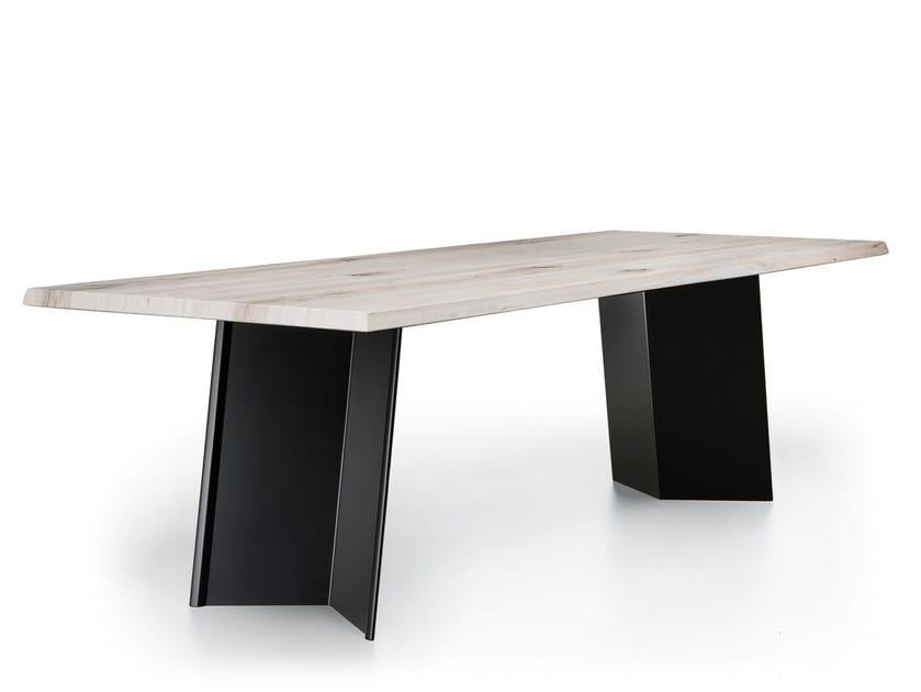 Rectangular wooden table PLUS by Natisa