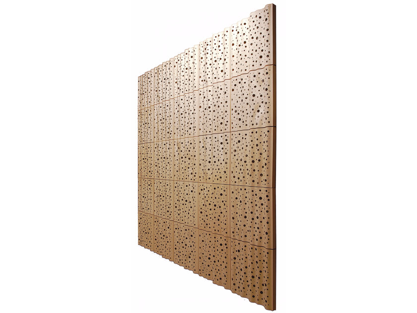 Plywood decorative acoustical panels PLY 1 MOON - SHOWROOM Finland