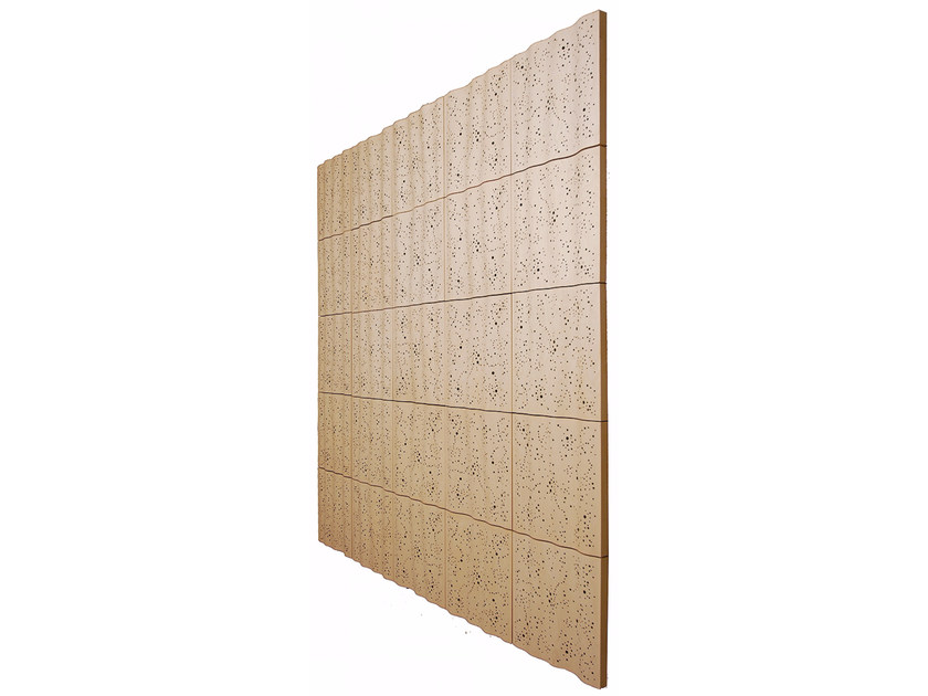 Plywood decorative acoustical panels PLY 2 SKY - SHOWROOM Finland