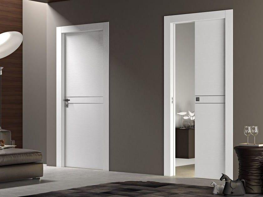 Wooden pocket sliding door DEMETRA | Pocket sliding door - Pail Serramenti