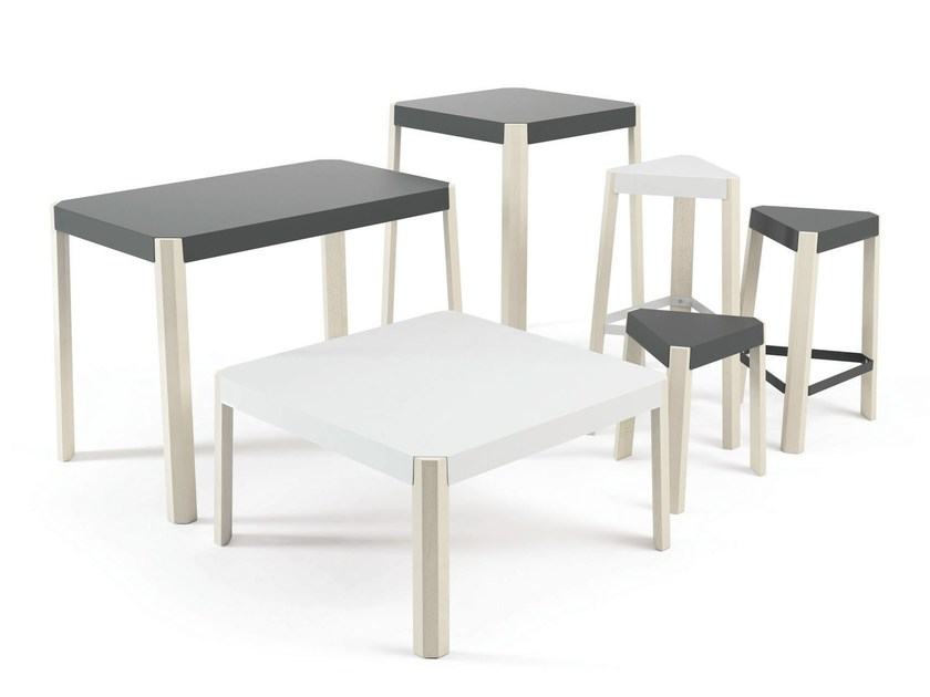 Rectangular wood-product table PODIO | Table - CANCIO
