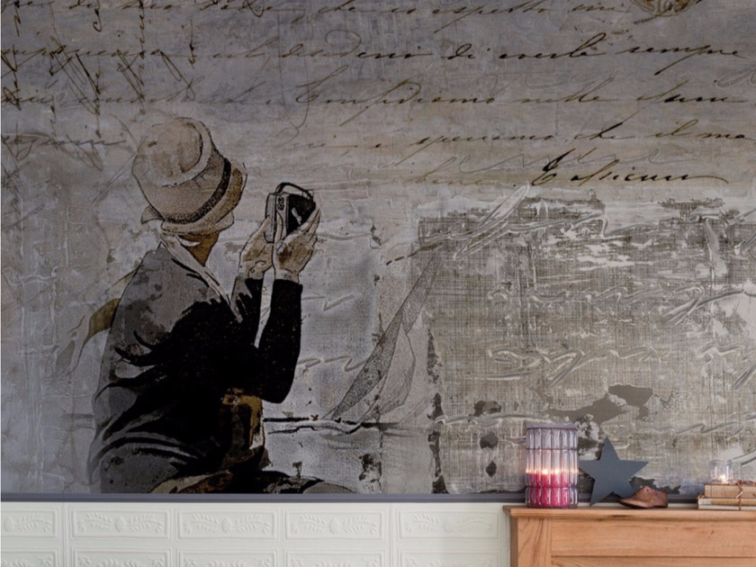 Panoramic writing wallpaper POEM by Inkiostro Bianco