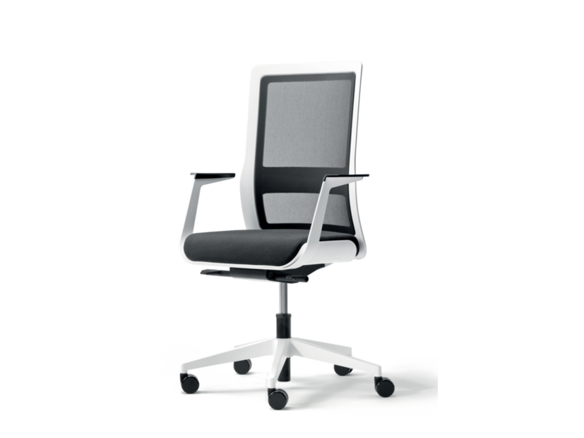 Swivel fabric task chair with 5-Spoke base with armrests POI | Task chair with 5-Spoke base - Wiesner-Hager