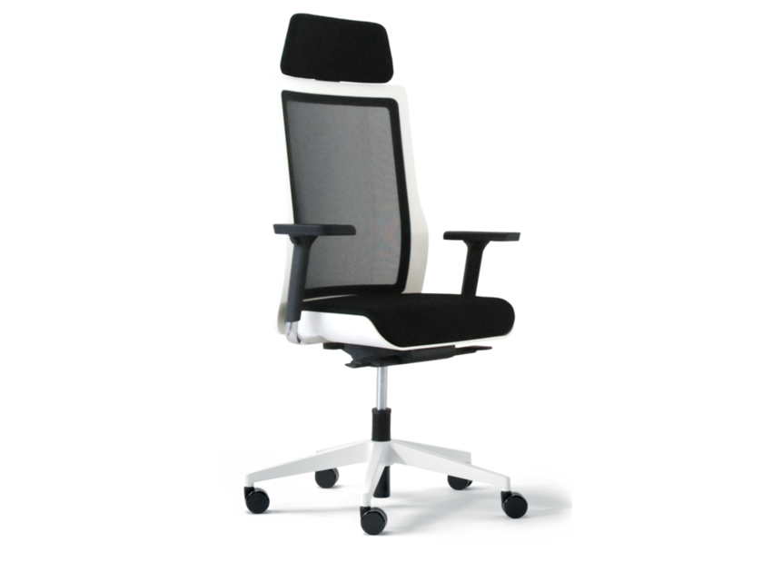 Swivel fabric task chair with 5-Spoke base with armrests POI   Task chair with armrests - Wiesner-Hager