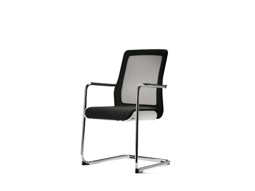 Cantilever fabric training chair with armrests POI | Training chair - Wiesner-Hager