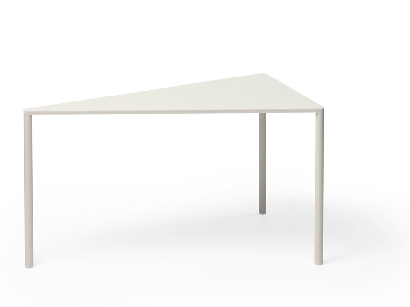 Modular triangular Corian® side table POINT 30° by Massproductions