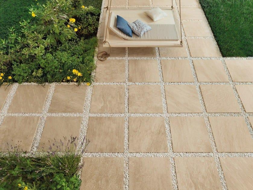 Pavimento per esterni in gres porcellanato effetto pietra - Gres porcellanato da esterno ...