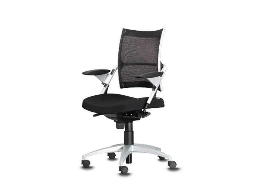Swivel task chair with 5-Spoke base with armrests POINT | Task chair with 5-Spoke base by Wiesner-Hager
