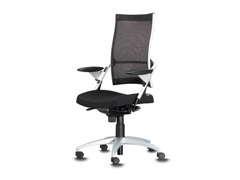 Swivel task chair with 5-Spoke base with armrests POINT | Task chair with armrests - Wiesner-Hager