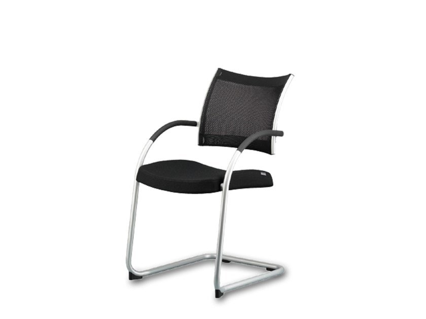 Cantilever training chair with armrests POINT | Training chair - Wiesner-Hager