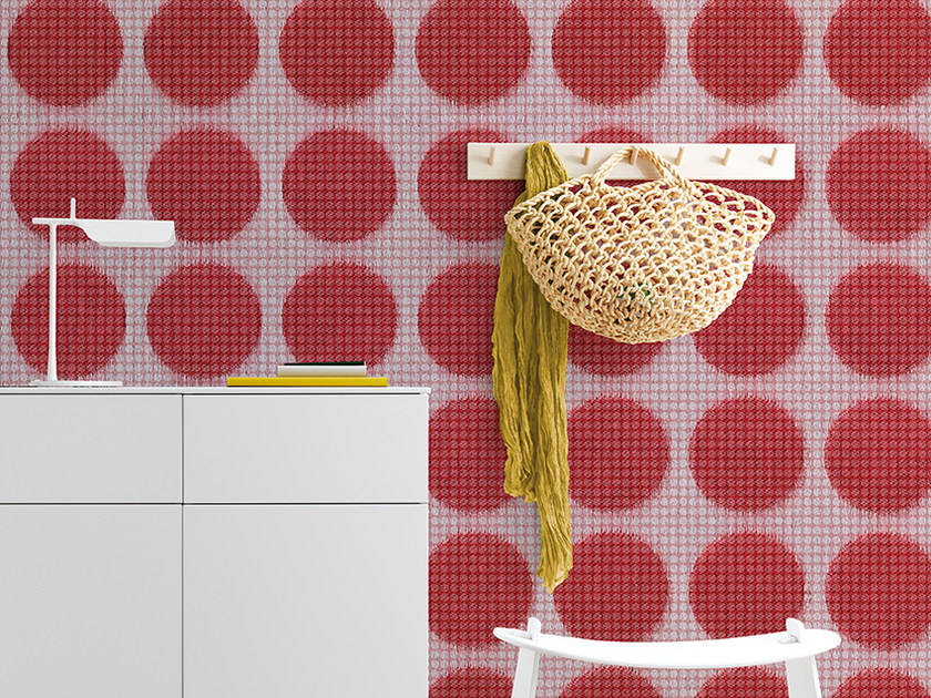 Dotted panoramic wallpaper POIS ON - Inkiostro Bianco