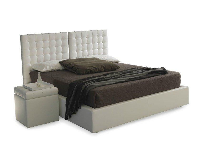 Storage bed with tufted headboard POISSY | Storage bed - Bolzan Letti