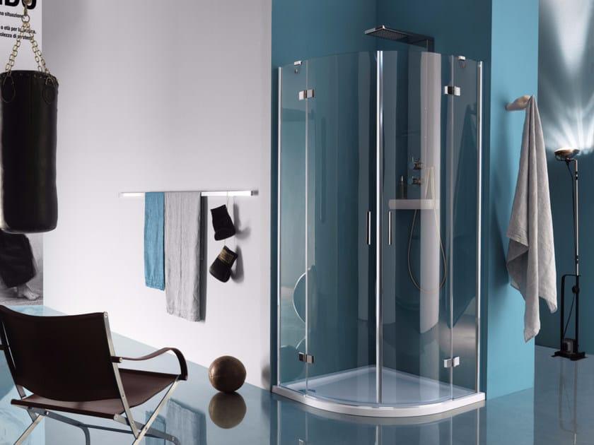 Corner shower cabin with hinged door POLARIS DESIGN | Corner shower cabin - Samo