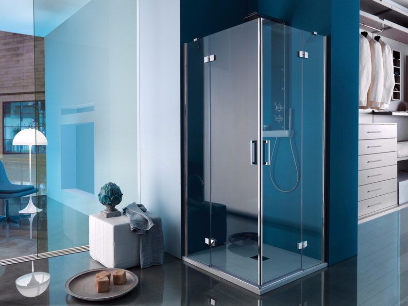 Box doccia angolare rettangolare con porta a battente grand polaris box doccia rettangolare samo - Porta doccia samo ...