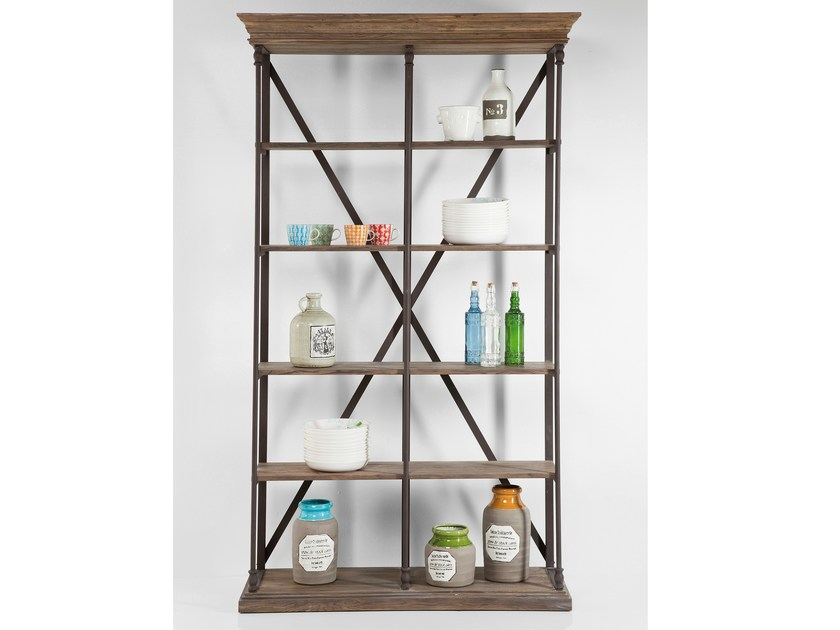 Classic style open wooden bookcase POLE 125 - KARE-DESIGN