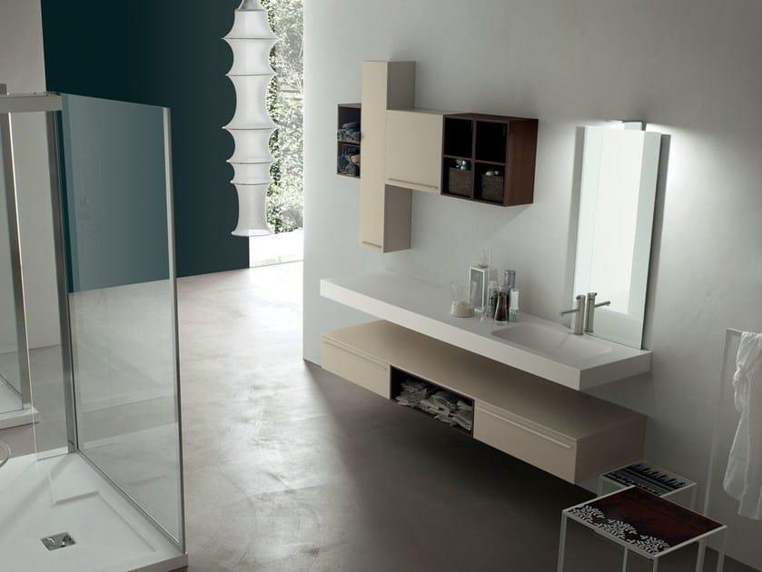 Sistema bagno componibile POLLOCK - COMPOSIZIONE 28 - Arcom