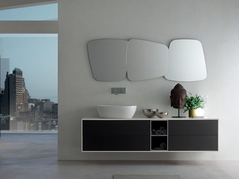 Lacquered single wall-mounted vanity unit POLLOCK - COMPOSITION 30 - Arcom