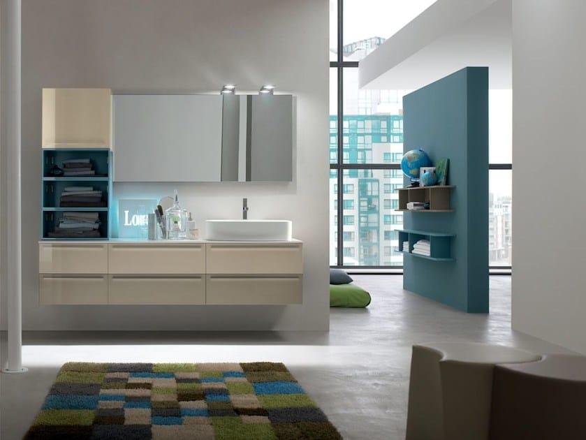 Bathroom cabinet / vanity unit POLLOCK - COMPOSITION 33 - Arcom
