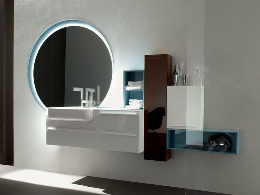 Bathroom cabinet / vanity unit POLLOCK - COMPOSITION 37 - Arcom