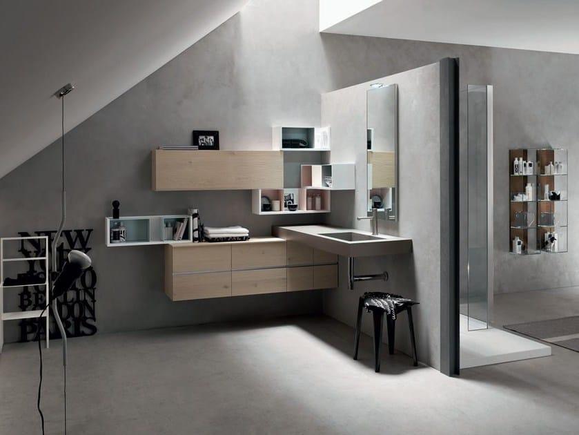 Bathroom cabinet / vanity unit POLLOCK YAPO - COMPOSITION 44 by Arcom