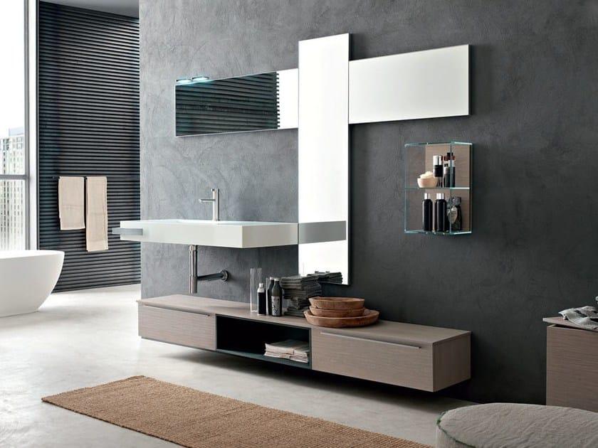 Washbasin countertop / bathroom cabinet POLLOCK YAPO - COMPOSITION 46 - Arcom