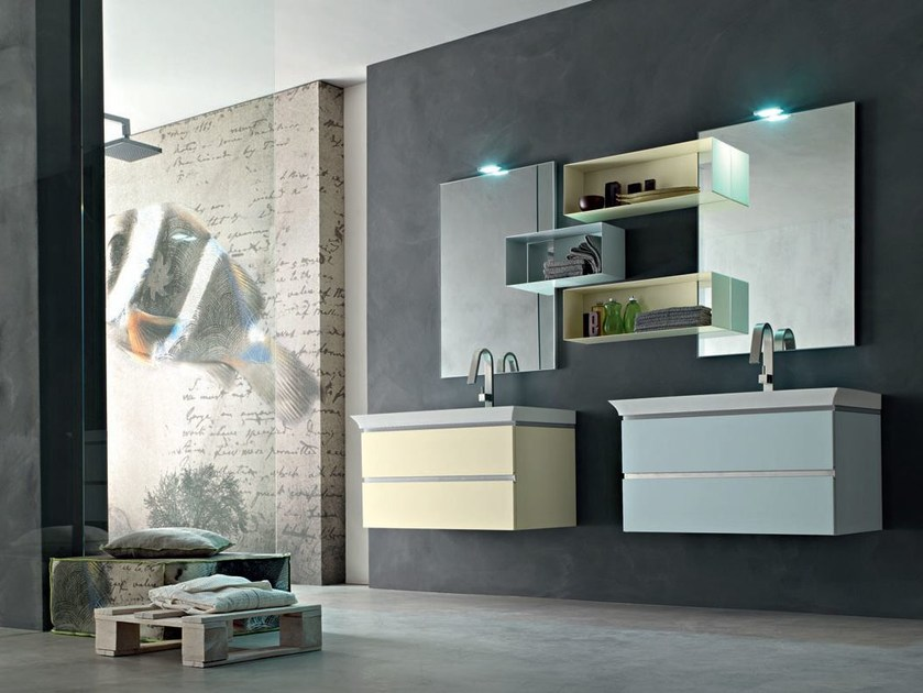 Bathroom cabinet / vanity unit POLLOCK YAPO - COMPOSITION 51 - Arcom