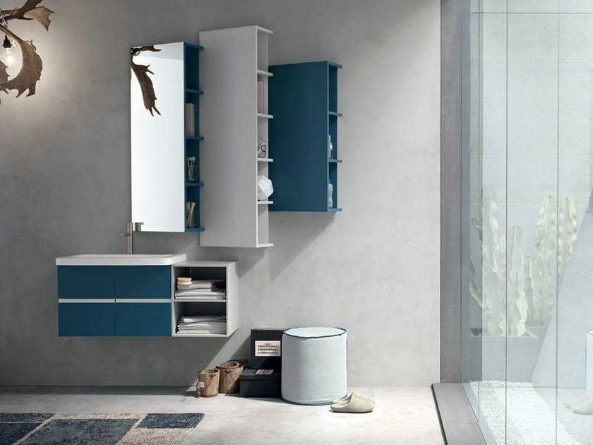 Bathroom cabinet / vanity unit POLLOCK YAPO - COMPOSITION 52 - Arcom
