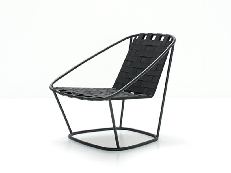 Steel and elastic strapes garden armchair ARMCHAIR - arflex
