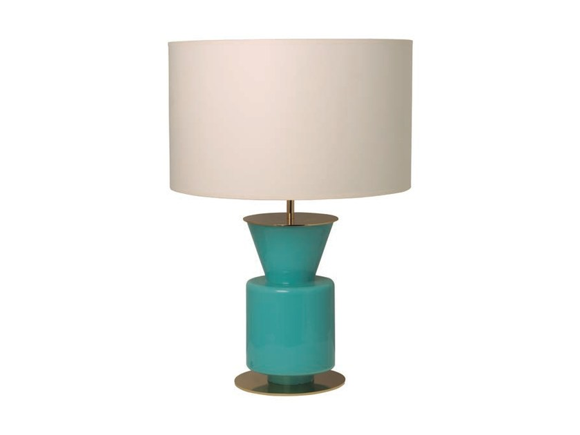 Stained glass table lamp with fixed arm PONN | Stained glass table lamp - Aromas del Campo