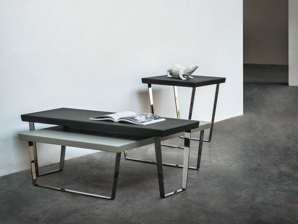 Lacquered rectangular coffee table PONTE - BODEMA