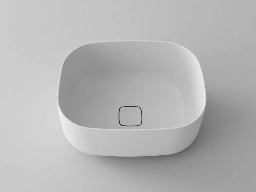 Countertop rectangular washbasin POP-R - Flora Style