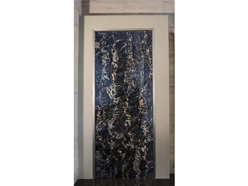 Porta a battente in marmo PORTORO by Placidia