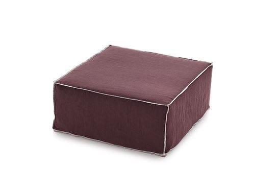 Upholstered fabric pouf Pouf - Arcom