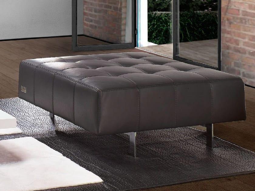 Upholstered leather pouf CORSA | Pouf - Tonino Lamborghini Casa by Formitalia Group