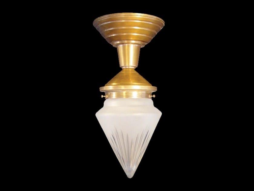 Direct light handmade brass ceiling lamp PRAGUE I | Ceiling lamp - Patinas Lighting
