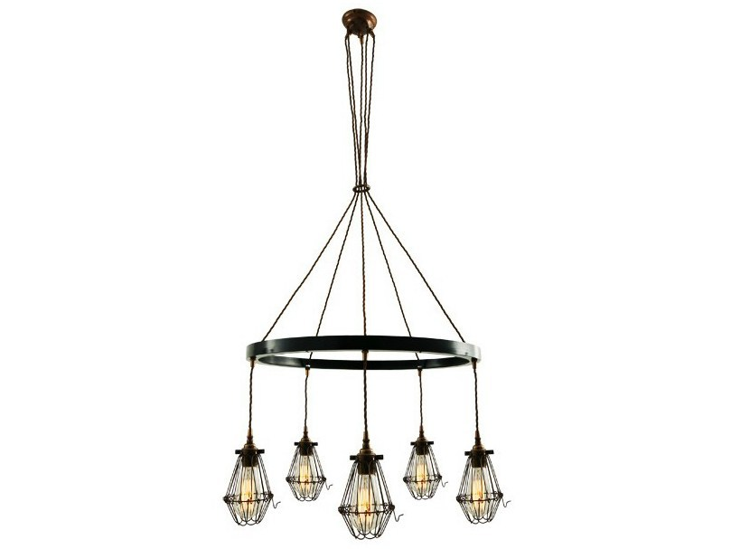 Industrial style handmade brass chandelier PRAIA 1 TIER | Chandelier - Mullan Lighting