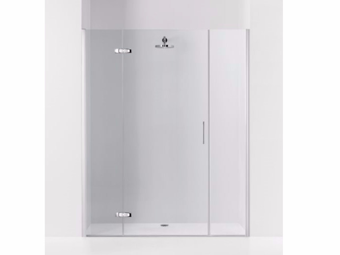Niche shower cabin with hinged door and fixed elements PRAIA DESIGN - 6 - INDA®