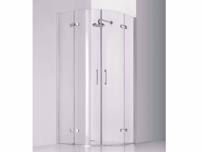 Box doccia semicircolare in vetro con porte a battente PRAIA DESIGN - 7 by INDA®