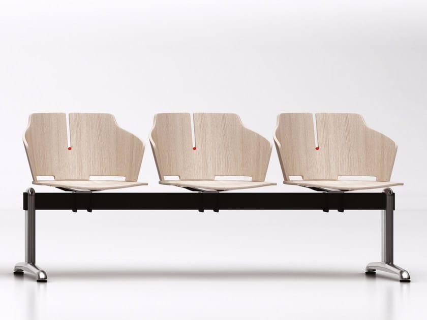 Freestanding laminated wood beam seating PRIMA | Beam seating - Luxy