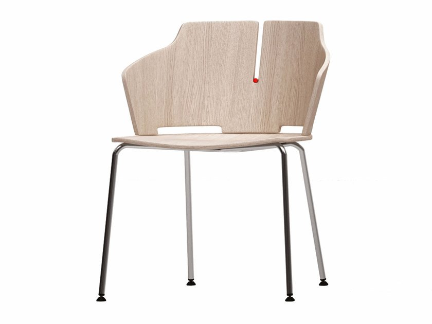 Reception chair with armrests PRIMA | Chair - Luxy