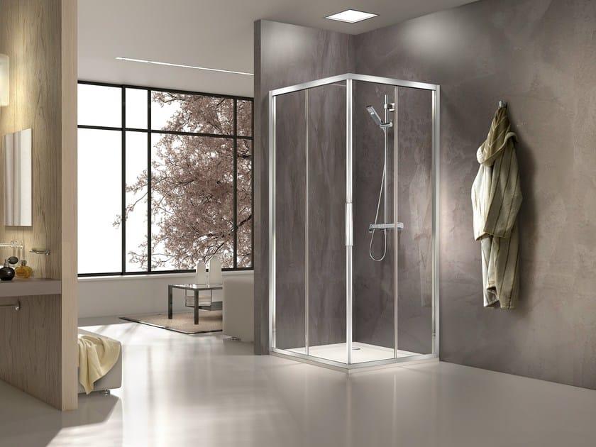 Glass and aluminium shower cabin STILA 2000   Shower cabin - DUKA