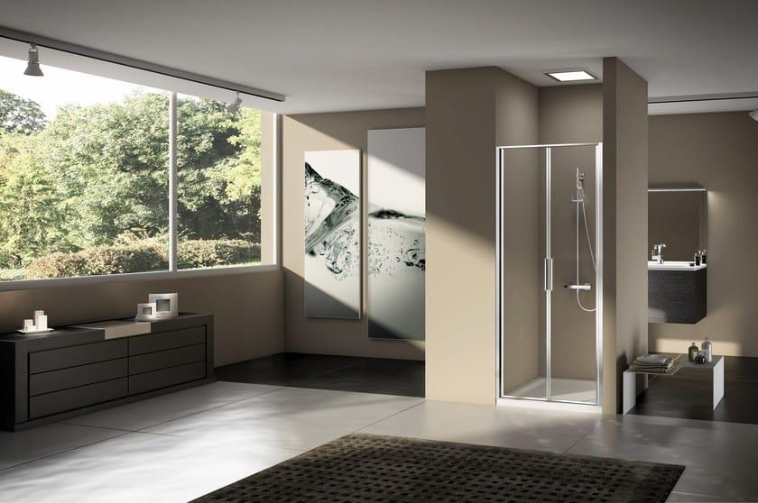 Box doccia a nicchia in alluminio e vetro stila 2000 duka for Duka cabine doccia