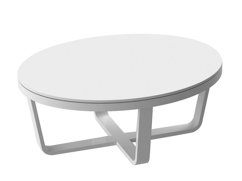 Lacquered oval aluminium coffee table PRIMADONNA | Oval coffee table - solpuri